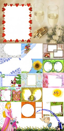 Collection of Spring Photo frames pack 28