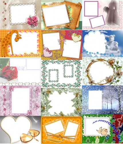 Collection of Spring Photo frames pack 30