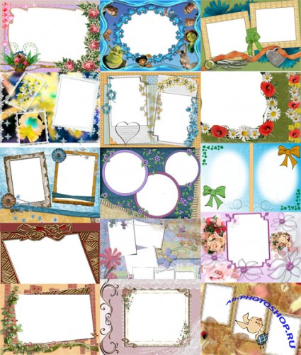 Collection of Spring Photo frames pack 33