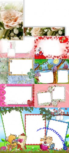 Collection of Spring Photo frames pack 47