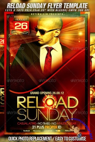 GraphicRiver - Reload Sunday Flyer Template 2545057
