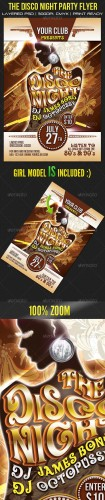 GraphicRiver - The Disco Night Party Flyer 2549534