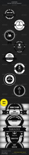 GraphicRiver - 8 Modern Retro Vintage Badges 2432164