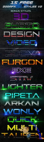 15 Zoomfx Styles for Photoshop v2