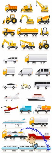 Transport Vehicles Vector