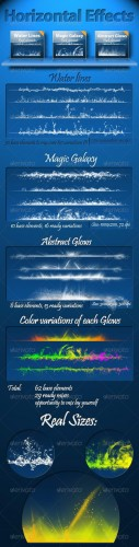 GraphicRiver - Horizontal Effects Pack 150138