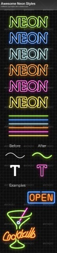 GraphicRiver - Awesome Neon Styles 100124