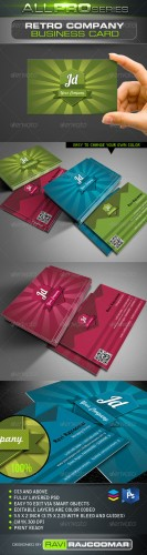 GraphicRiver - Retro Company Business Card 2657412