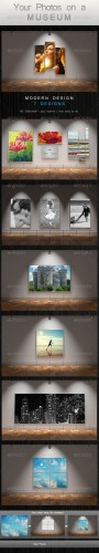 GraphicRiver - Your Photos on a Museum 2550865
