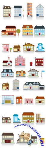 Multi-storey houses Vector