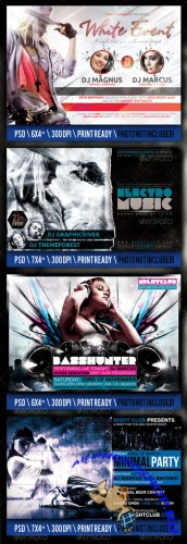 GraphicRiver - Party Flyer Bundle 2599222
