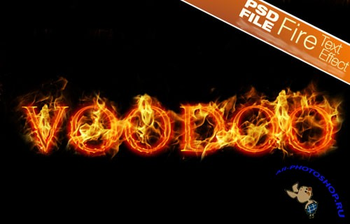 PSD Template - Fire Text Effect