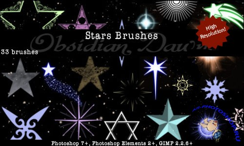 Stars Photoshop Brushes Set