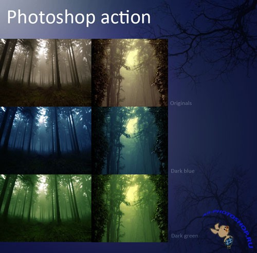 Actions for Photoshop - Dark