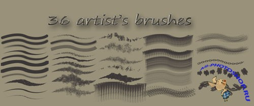 36 Artists Brushes for Photoshop