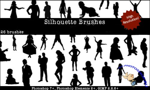 Silhouettes Brushes Set