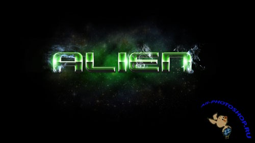 Style for Photoshop - Alien