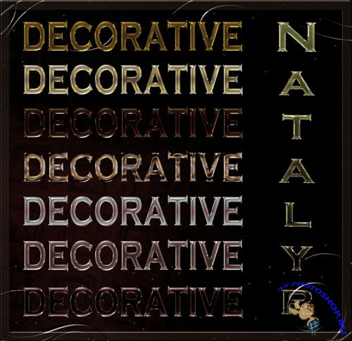 Decorative Styles for Photoshop
