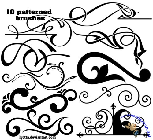 10 Patterned Brushes for Photoshop Part 4