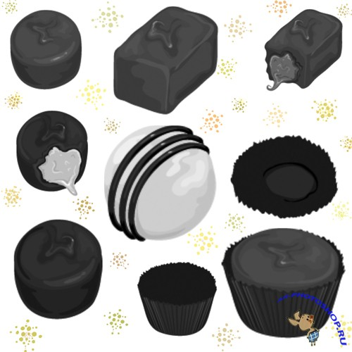 Chocolats Brushes Set