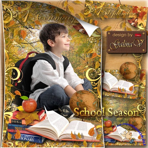 Kid's Frame on 1 September - School Season