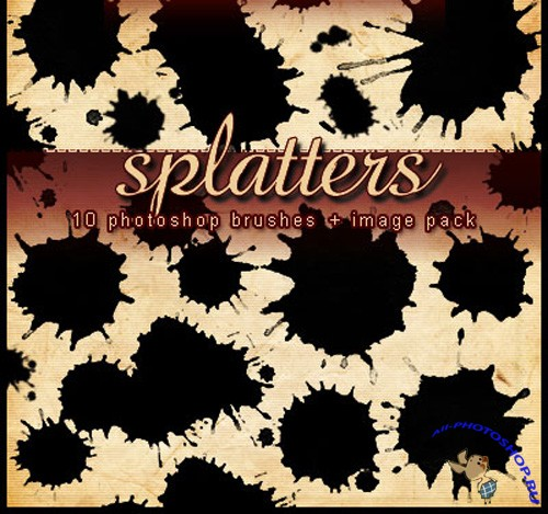 Splatters Brushes Set