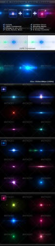 GraphicRiver - 18 Unique Lens Flares - Light Effects Bundle 4-6 - 2426515