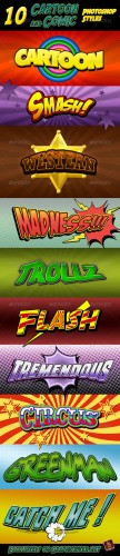 GraphicRiver - Cartoon and Comic Book Styles 335975