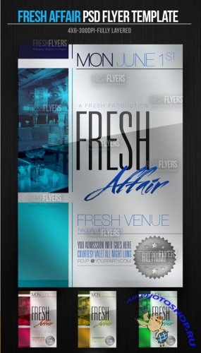 PSD Template - Fresh Affair Party Flyer/Poster