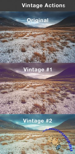 Vintage Actions for Photoshop #1
