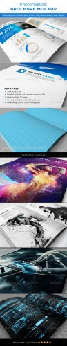 GraphicRiver - Realistic brochures mock-ups