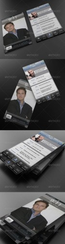 GraphicRiver - Phone Business Card 800470