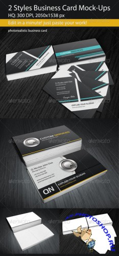 GraphicRiver - 2 Styles Business Card Mock-Ups 2744775