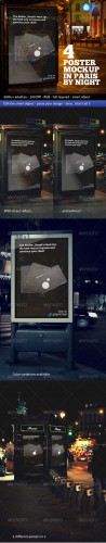 GraphicRiver - Photorealistic Poster Mockup In Paris By Night 979568