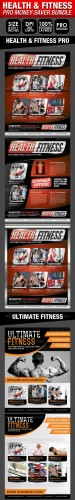GraphicRiver - Health, Sports, Fitness Flyer Bundle 2726573