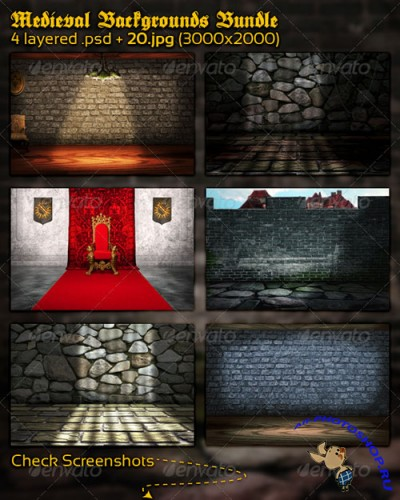 GraphicRiver - Medieval Backgrounds Bundle 1198373