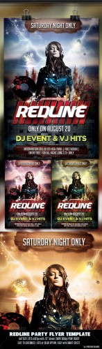 GraphicRiver - Red Line Party Flyer 2744737