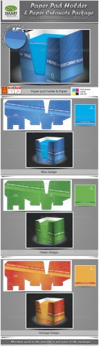 GraphicRiver - Paper Pad Holder & Paper Cutouts Package 2743530