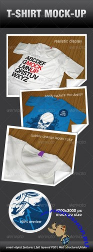 GraphicRiver - T-Shirt Mock-Up 643512
