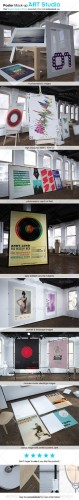 GraphicRiver - Poster Mock-up ART STUDIO 2616511