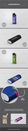 GraphicRiver - Lighter Mockup 2729002