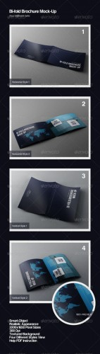 GraphicRiver - Bi-Fold Brochure Mock-Ups 2736134