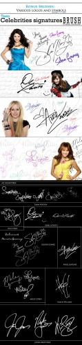Brushes for Photoshop - Signatures and Symbols Celebrities