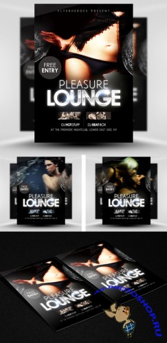 PSD Template - Pleasure Lounge Flyer/Poster
