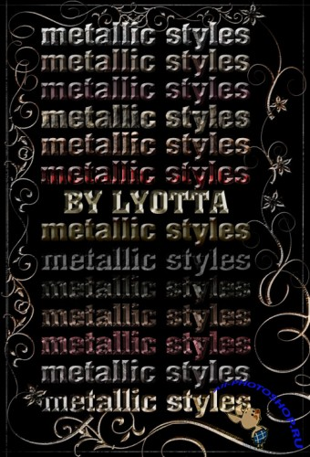 Styles for Photoshop - Metallic