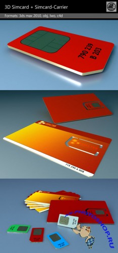 3D Simcrad + Simcard-Carrier Template