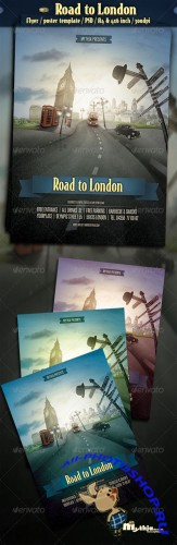 GraphicRiver - Road to London - Event Flyer/Poster Template 2708284