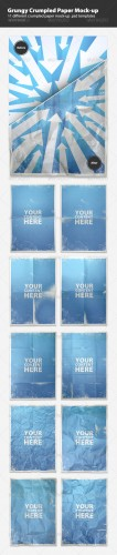 GraphicRiver - Grungy Crumpled Paper Mock-up Templates 681984
