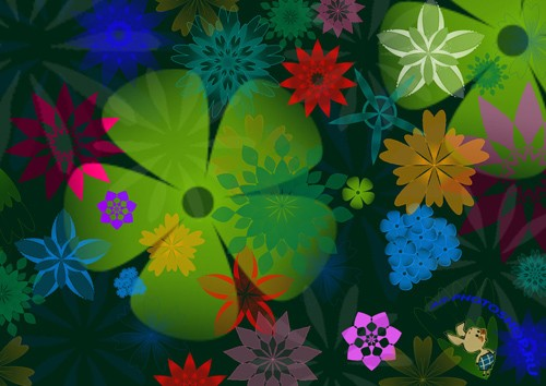 Flowers Brushes set