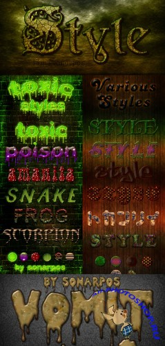 Sonarpos Text styles for Photoshop pack #2